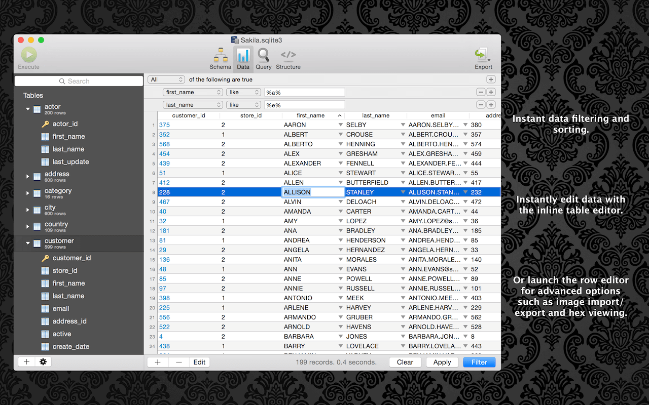 SQLPro for SQLite - macOS SQLite Management